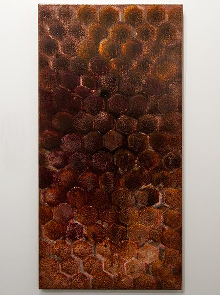 Joseph Egan / Joseph Egan inner space  2013  100 x 50 x 2.5 cm Oil paints on canvas