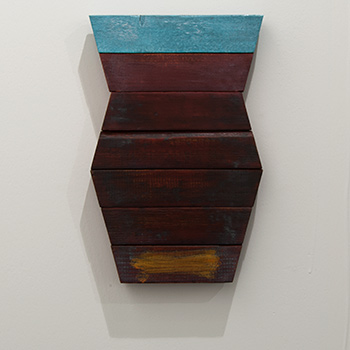 Joseph Egan / Joseph Egan dream vessel  2014  33.5 x 22 x 3 cm Oil paints on wood