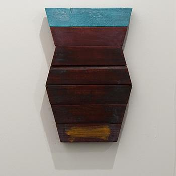 Joseph Egan / Joseph Egan dream vessel  2014  33.5 x 22 x 3 cm Oil paints on wood