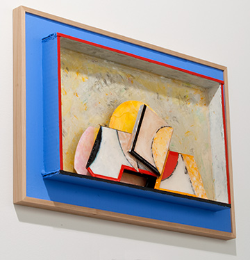 Richard Francisco / Richard Francisco Marquee  2014 36 x 54.5 x 5 cm Arches paper, gouache and acrylic (FLASHE) paint and plastic coating on archival cardboard
