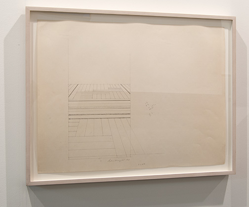 """Sylvia Plimack-Mangold / Sylvia Plimack Mangold Study for """"Hallway""""  1969  45.7 x 61 cm Pencil on paper"""