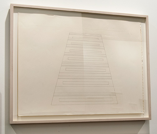 Sylvia Plimack Mangold / Sylvia Plimack Mangold Untitled (staircase)  1968  45.7 x 61 cm Pencil on paper
