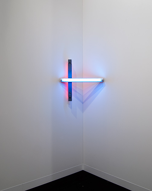 Dan Flavin / Dan Flavin Untitled  1969 61 x 61 cm blue and red fluorescent light (CL #222)