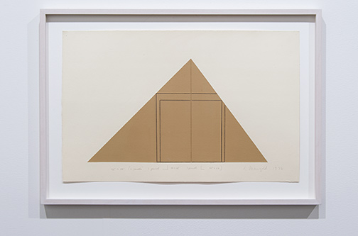 Robert Mangold / Robert Mangold Untitled (tan)  1976 30 x 47 cm acrylic and color pencil on paper