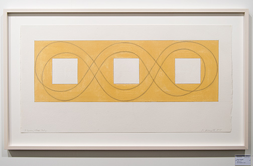 Robert Mangold / Robert Mangold 3 Square / Loop Study  2015 53,3 x 105 cm 21 x 41,375 inch acrylic and graphite on paper