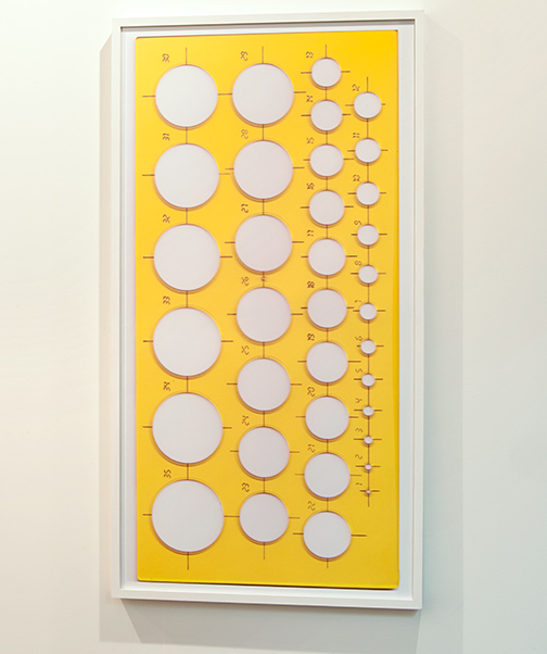 Rita McBride / Rita McBride Yellow Circle Template (large)  2006 64 x 120 cm ink jet print