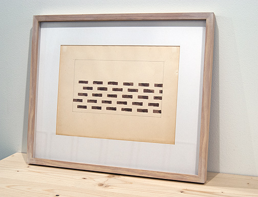 Richard Tuttle / Richard Tuttle Brown Bars in Rectangle  1969 22,8 x 30,5 cm pencil and watercolor/brown on paper