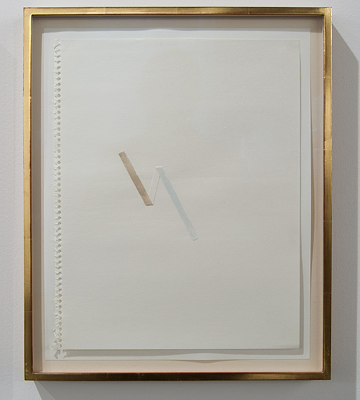 Richard Tuttle / Richard Tuttle Untitled (Collage Drawings) I 10  1977 ten drawings, each: 36 x 28 cm in artists frame watercolor and collage on paper