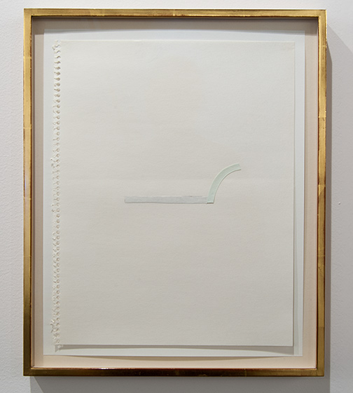 Richard Tuttle / Richard Tuttle Untitled (Collage Drawings) I 8  1977 ten drawings, each: 36 x 28 cm in artists frame watercolor and collage on paper