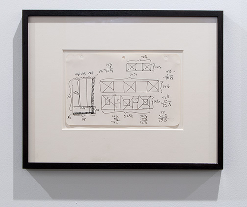 Sol LeWitt / Sol LeWitt Unknown  1967 15,2 x 24,1 cm 6 x 9,5 inch ink on paper working drawing