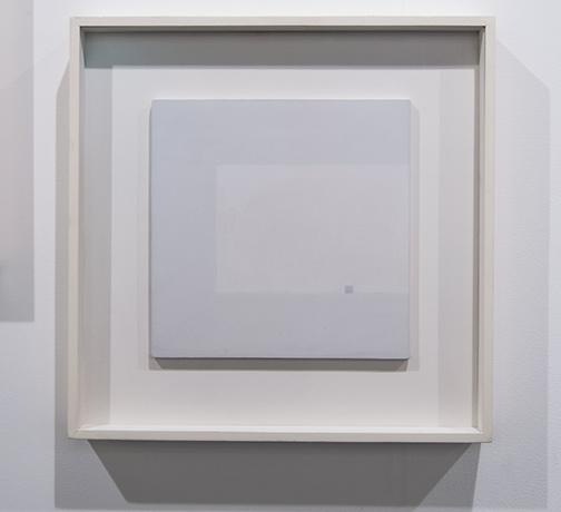 Antonio Calderara / Antonio Calderara Attrazione quadrata grigia in colore luce grigio  1964–1965 27 x 27 cm oil on wood panel