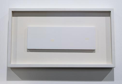 Antonio Calderara / Antonio Calderara Rettangoli di colore  1967 9 x 27 cm oil on wood panel