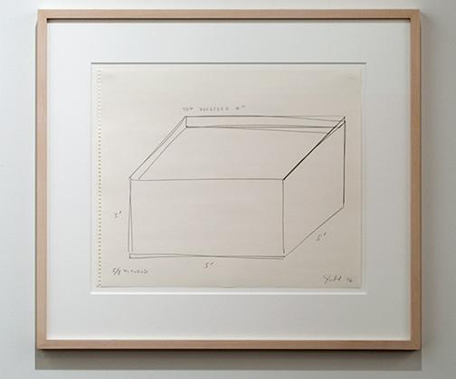 Donald Judd / Donald Judd Untitled  1976 35.7 x 43 cm pencil on paper