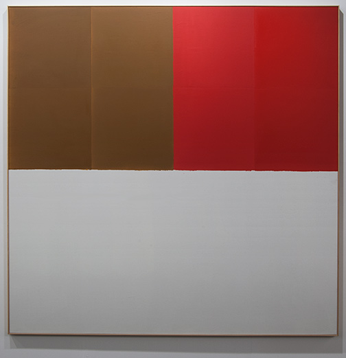 James Bishop / James Bishop Brown / Red  1969 189.5 x 188.5 cm oil on canvas