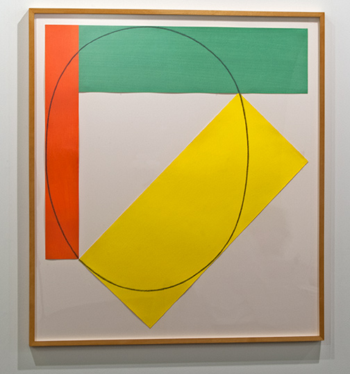 Robert Mangold / Robert Mangold Three Color Frame Painting  1985 92 x 81.3 cm / 36.25 x 32 in acrylic and pencil on paper