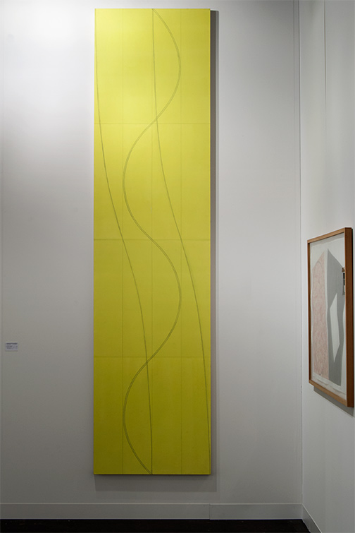 Robert Mangold / Robert Mangold Double Line Column   2005 2304.8 x 76.2 cm  /  120 x 30 in acrylic and pencil on canvas