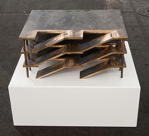 Rita McBride / Rita McBride Parking Garage (L)  2011 28.5 x 47 x 62 cm bronze sandcasting Ed. 1/3