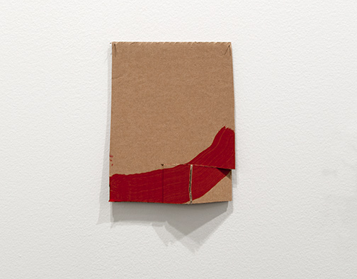 Richard Tuttle / Richard Tuttle Formal Alphabet G  2015 22.2 x 17.5 cm acrylic on corrugated cardboard, steel nails
