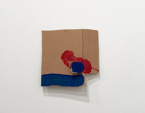 Richard Tuttle / Richard Tuttle Formal Alphabet I  2015 22.1 x 22.4 cm acrylic on corrugated cardboard, steel nails