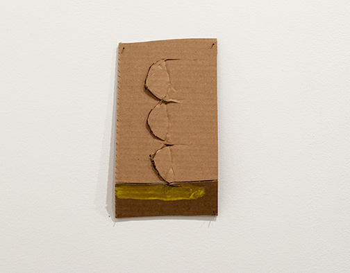 Richard Tuttle / Richard Tuttle Formal Alphabet J  2015 24.1 x 15.3 cm acrylic on corrugated cardboard, steel nails