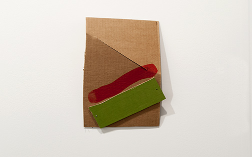 Richard Tuttle / Richard Tuttle Formal Alphabet L  2015 30.2 x 23.2 cm acrylic on corrugated cardboard, steel nails