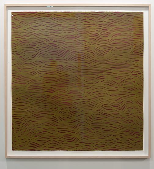 Sol LeWitt / Sol LeWitt Horizontal Bands (More or Less)  2002 154 x 147 cm gouache on paper