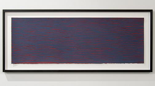 Sol LeWitt / Sol LeWitt Horizontal Brushstrokes  2003 39 x 115 cm / 15.25 x 45.2 in gouache on paper