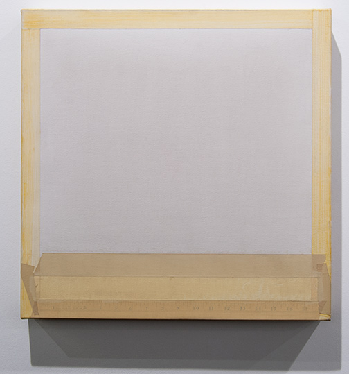 Sylvia Plimack-Mangold / Sylvia Plimack Mangold Untitled  1977 51 x 51 cm pencil and acrylic on canvas