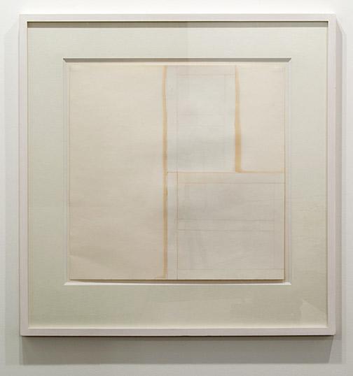 James Bishop / James Bishop Untitled  1976 55.5 x 55.5 cm oil and crayon on paper