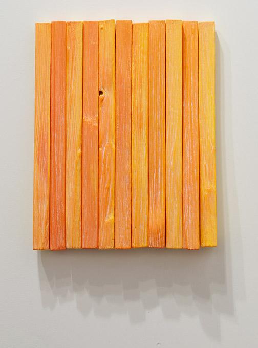 Joseph Egan / Joseph Egan fruit  2018 37 x 29.5 x 5 cm various paints on wood