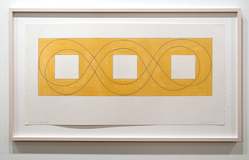 Robert Mangold / Robert Mangold 3 Square / Loop Study  2015 53.3 x 105 cm pastel and graphite on paper