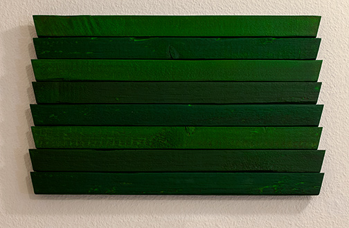 Joseph Egan / Joseph Egan greens  2013  31 x 49.5 x 3 cm oil paints on wood
