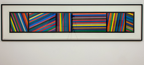 Sol LeWitt / Sol LeWitt Bands of Lines in Different Directions  1996  50.8 x 210.8 cm two part color aquatint Ed. 24/36