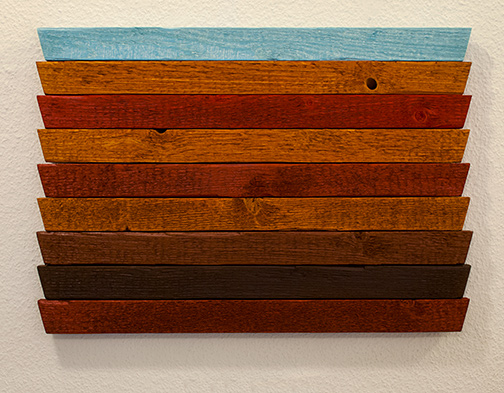 Joseph Egan / Joseph Egan earth and sky (Nr. 2)  2013 34 x 49.5 x 3 cm oil paints on wood