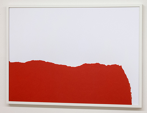 Sol LeWitt / Sol LeWitt Rip Drawing (R 122)  1973 22.2 x 65.5 cm ripped red paper