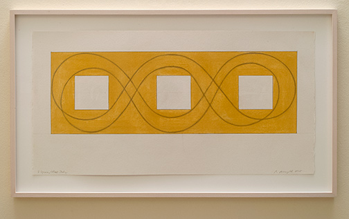 Robert Mangold / Robert Mangold 3 Square/Loop Study  2015 53.3 x 105 cm pastel and graphite on paper