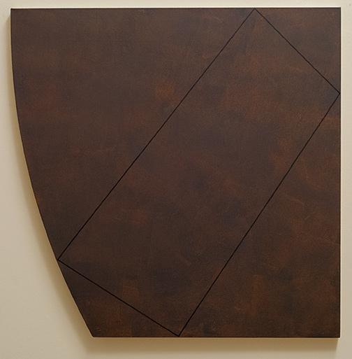 Robert Mangold / Robert Mangold Attic Series XVI, Study  1991 121.9 x 121.9 cm acrylic and black pencil on canvas