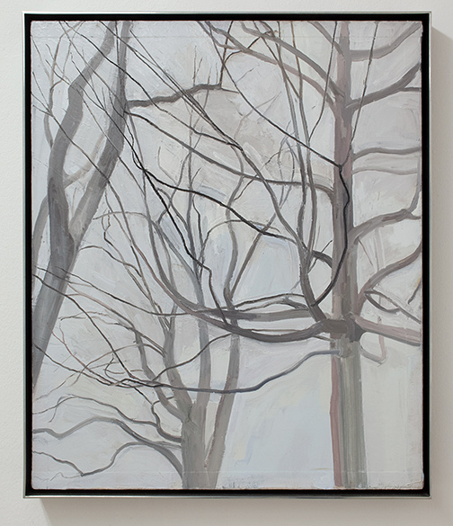 Sylvia Plimack-Mangold / Sylvia Plimack Mangold The Locust Trees with Maple  1989 61 x 51 cm oil on canvas