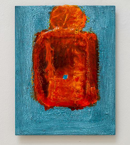 Joseph Egan / Joseph Egan Fever  2020  30 x 24 x 2 cm Various paints on canvasboard