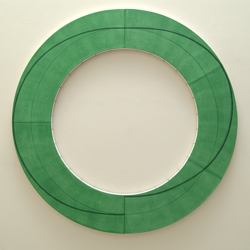 Robert Mangold / Robert Mangold Ring Image J  2010 152.4 x 152.4 cm Acrylic and pencil on canvas