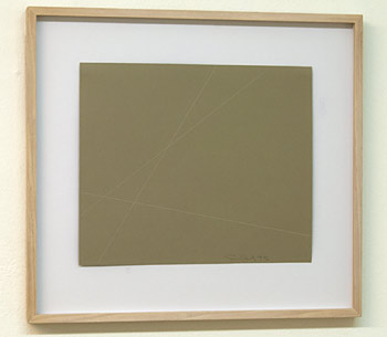 Fred Sandback / Fred Sandback Untitled  1995  23.3 x 27.6 cm white crayon on grey paper
