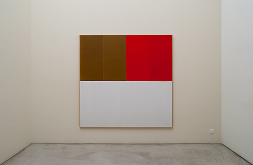 James Bishop / Brown / Red  1969 189.5 x 188.5 cm oil on canvas