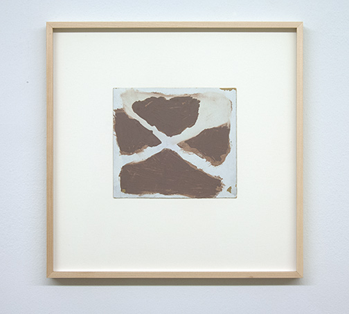 James Bishop / Untitled  18.2 x 20.4 cm oil on paper
