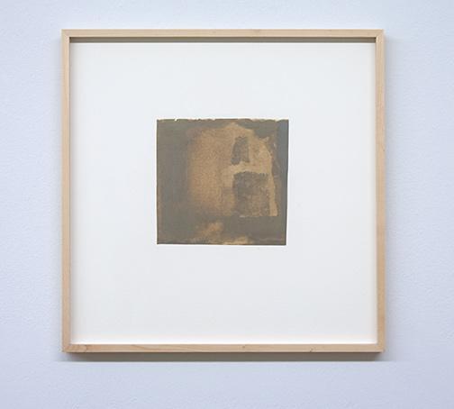 James Bishop / Untitled  16.6 x 17.3 cm oil on paper