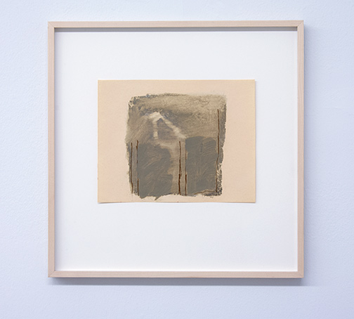 James Bishop / Untitled  1982 20 x 26 cm oil and crayon on paper