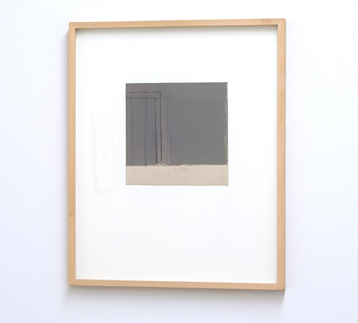 James Bishop / Untitled  1991 17.4 x 17.8 cm oil and crayon on paper