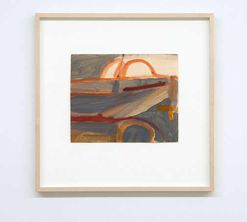 James Bishop / Untitled  1956 21 x 25.3 cm oil on paper