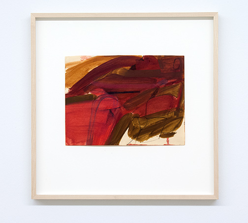 James Bishop / Untitled  1956 20.2 x 27 cm oil and crayon on paper
