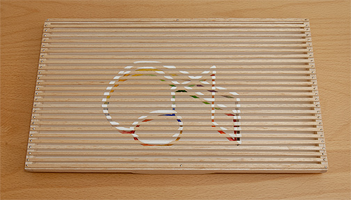 Richard Francisco / Richard Francisco Musical Ghost Painting  1977  17.6  x 29.5 x 1.9 cm balsa wood, watercolor and gouache