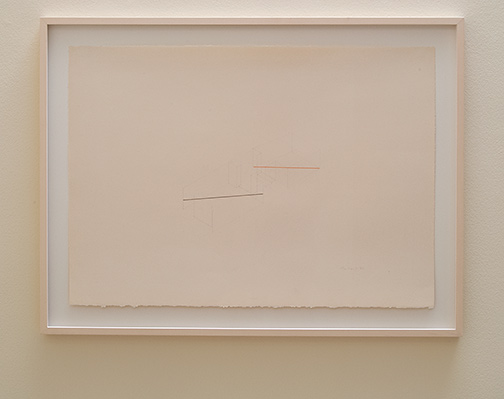 Fred Sandback / Fred Sandback Untitled  1982  65 x 90.6 cm pencil and pastel on paper